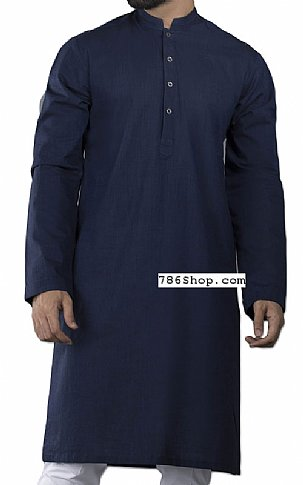 Navy Blue Men Shalwar Kameez | Pakistani Dresses in USA
