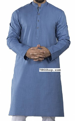 Blue Men Shalwar Kameez | Pakistani Dresses in USA