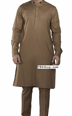 Brown Men Shalwar Kameez | Pakistani Dresses in USA