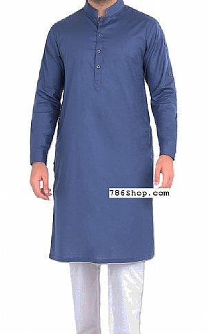 Blue Men Shalwar Kameez | Pakistani Dresses in USA