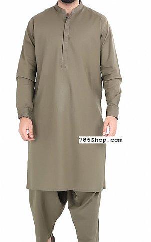 Brown Men Shalwar Kameez   Pakistani Dresses in USA