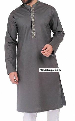 Dark Grey Men Shalwar Kameez | Pakistani Dresses in USA