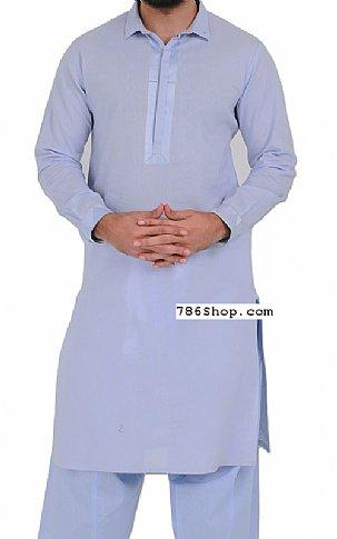 Sky Blue Men Shalwar Kameez | Pakistani Dresses in USA