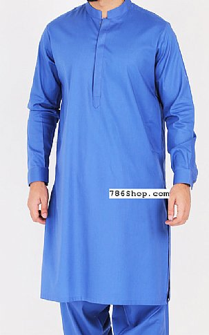 Brandeis Blue Men Shalwar Kameez | Pakistani Dresses in USA