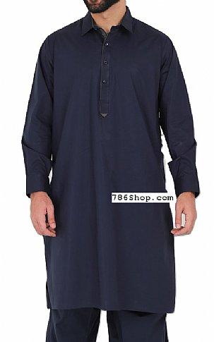 Navy Blue Men Shalwar Kameez | Pakistani Dresses in USA