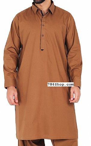 Brown Men Shalwar Kameez | Pakistani Dresses in USA