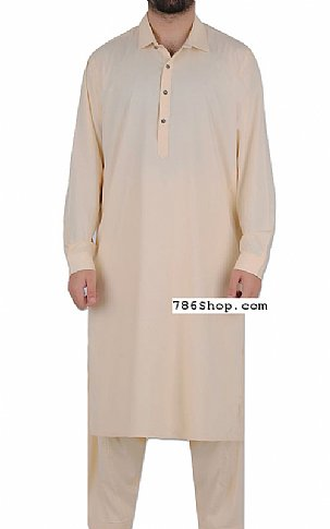 Cream Men Shalwar Kameez | Pakistani Dresses in USA