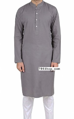 Grey Men Shalwar Kameez | Pakistani Dresses in USA