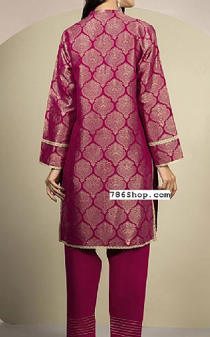 Magenta Jacquard Kurti | Pakistani Winter Clothes in USA