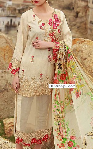 Ivory Jacquard Suit | Pakistani Lawn Suits in USA