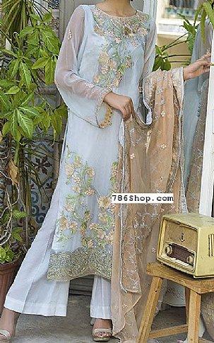 Off-White Crinkle Chiffon Suit | Pakistani Chiffon Dresses