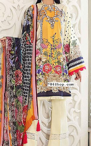 Gold Yellow Lawn Suit | Pakistani Lawn Suits in USA