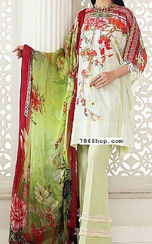 Light Green Lawn Suit | Pakistani Lawn Suits