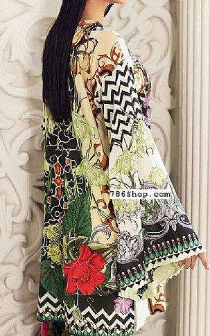 Ivory/Black Lawn Suit | Pakistani Lawn Suits
