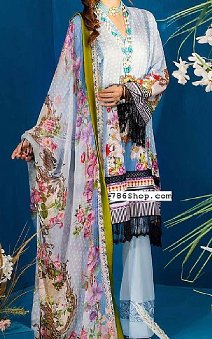 Baby Blue Lawn Suit | Pakistani Lawn Suits in USA