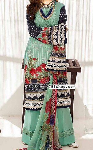 Sea Green Lawn Suit | Pakistani Lawn Suits in USA