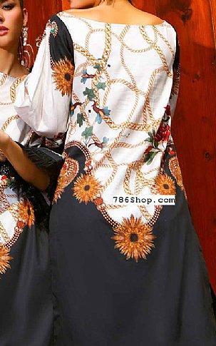 Black Cotton Satin Kurti   Pakistani Winter Clothes in USA