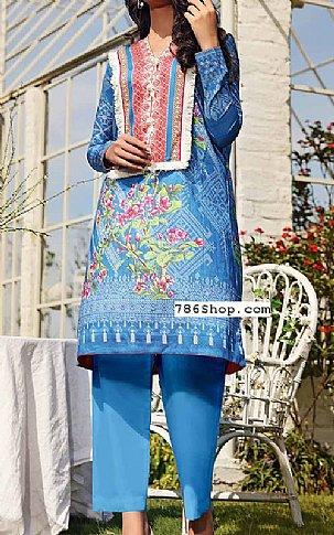 Blue Lawn Suit (2 Pcs) | Pakistani Lawn Suits in USA