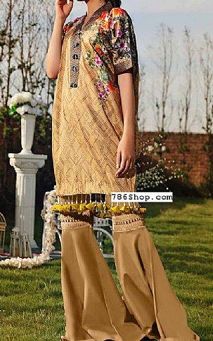Beige Lawn Suit (2 Pcs) | Pakistani Lawn Suits in USA