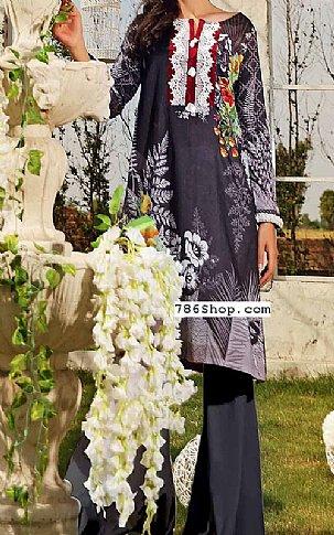 Charcoal Lawn Suit (2 Pcs) | Pakistani Lawn Suits in USA