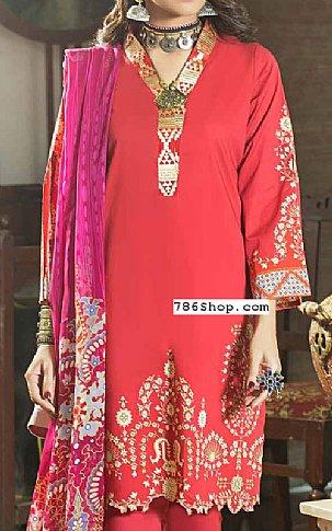 Coral Cambric Suit | Pakistani Winter Clothes