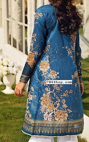 Teal Blue Lawn Suit (2 Pcs) | Pakistani Lawn Suits in USA