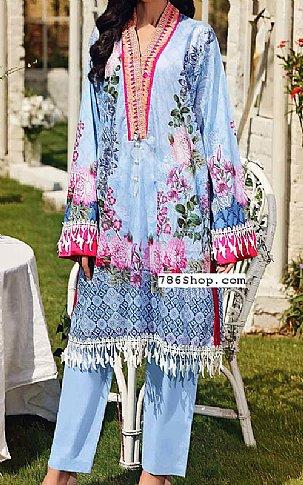 Baby Blue Lawn Suit (2 Pcs) | Pakistani Lawn Suits in USA