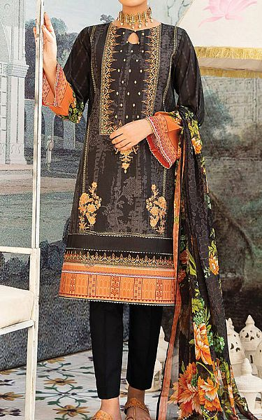 Black Lawn Suit | Pakistani Lawn Suits
