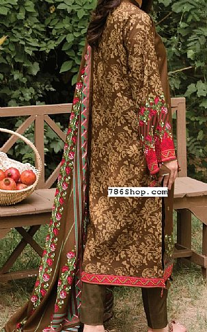 Brown Linen Suit   Pakistani Winter Clothes in USA