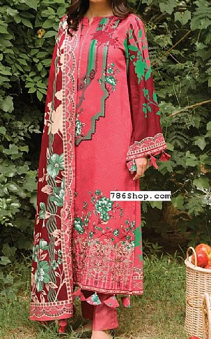 Rose Pink  Linen Suit | Pakistani Winter Clothes in USA
