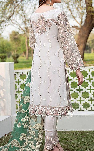 White Organza Suit   Pakistani Chiffon Dresses