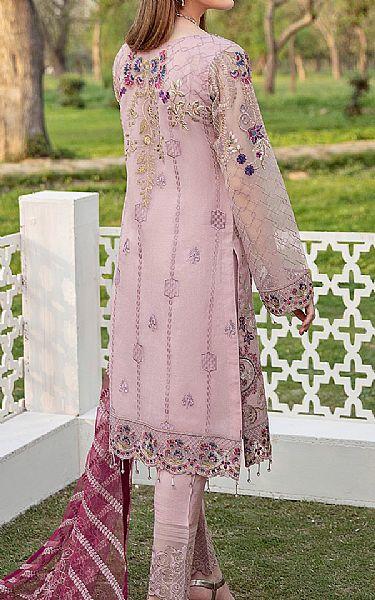 Baby Pink Organza Suit   Pakistani Chiffon Dresses