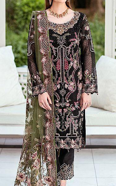 Black Organza Suit   Pakistani Chiffon Dresses