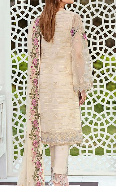 Ivory Organza Suit | Pakistani Chiffon Dresses
