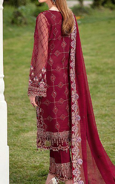 Maroon Organza Suit   Pakistani Chiffon Dresses