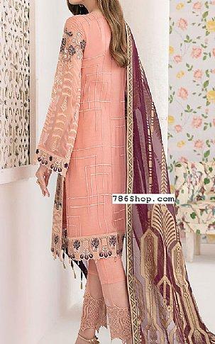 Peach Chiffon Suit | Pakistani Chiffon Dresses in USA
