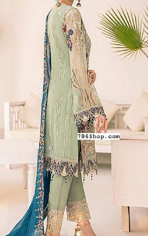 Pistachio Chiffon Suit | Pakistani Chiffon Dresses in USA