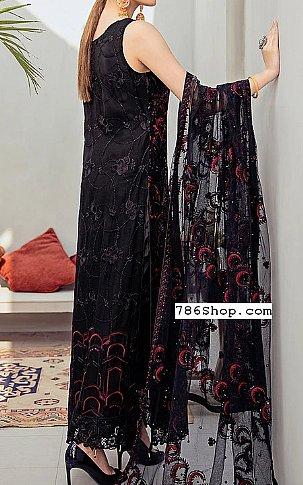 Black/Plum Chiffon Suit | Pakistani Chiffon Dresses