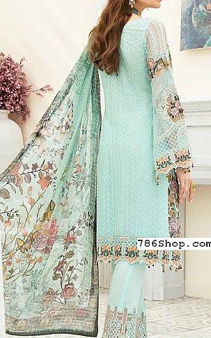 Turquoise Chiffon Suit | Pakistani Chiffon Dresses in USA
