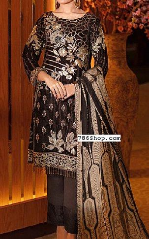Brown Velvet Suit | Pakistani Winter Clothes