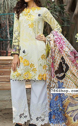 Yellow Lawn Suit | Pakistani Lawn Suits in USA