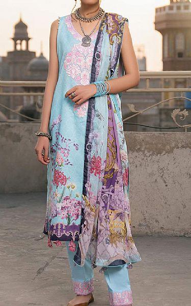 Baby Blue Lawn Suit | Pakistani Lawn Suits