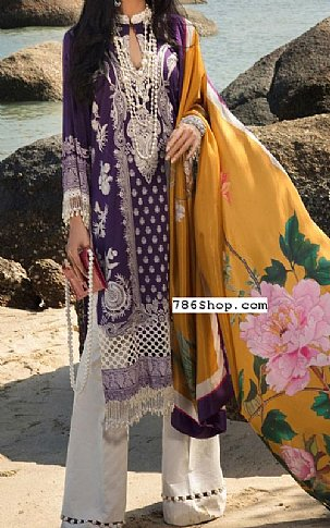 Indigo Lawn Suit   Pakistani Lawn Suits