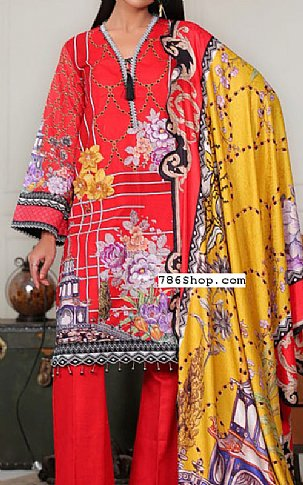 Red Khaddar Suit | Pakistani Winter Clothes in USA