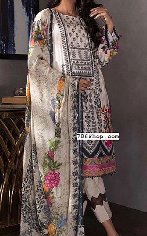 Off-White Twill Cotton Suit | Pakistani Winter Clothes
