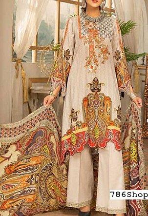 Ivory Slub Lawn Suit | Pakistani Lawn Suits