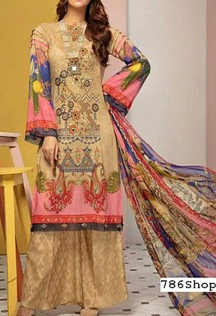 Cream Lawn Suit | Pakistani Lawn Suits in USA