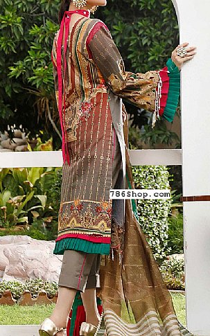 Brown/Grey Lawn Suit | Pakistani Lawn Suits in USA