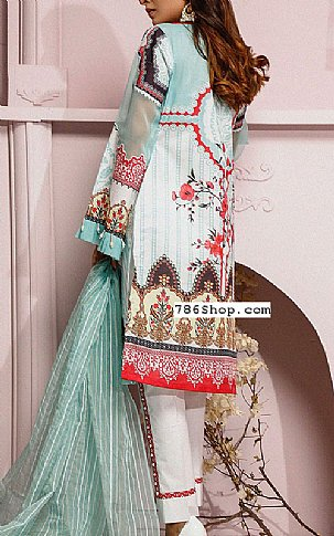 Turquoise Lawn Suit | Pakistani Lawn Suits in USA