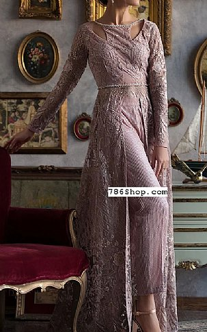Mauve Chiffon Suit | Pakistani Chiffon Dresses in USA